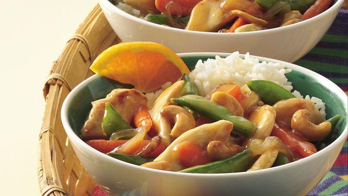 Honey-Glazed Cashew-Chicken Stir-Fry
