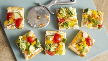 Vegetable Crescent Pizza