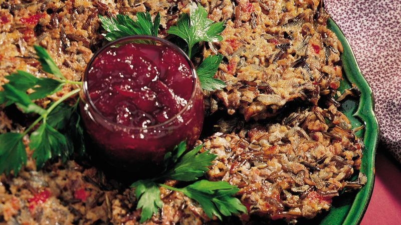 Wild Rice-Pecan Patties