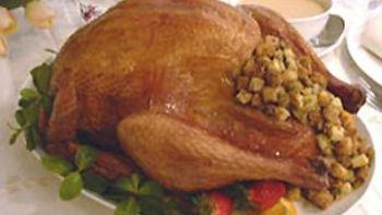 Stuffed Roast Turkey and Gravy