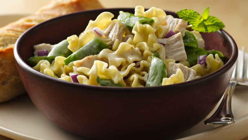 Chicken and Sugar Snap Peas Pasta Salad
