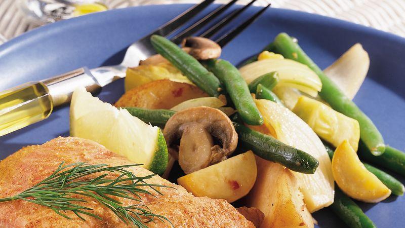 Grilled Italian Veggie Stir-Fry