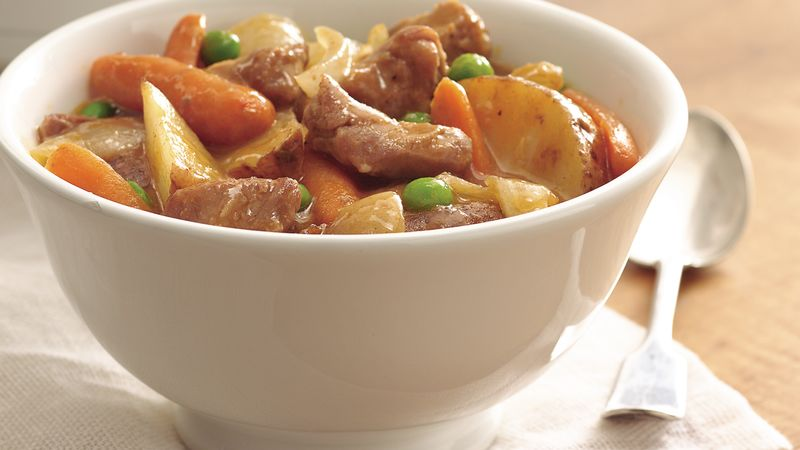Slow-Cooker Harvest Pork Stew