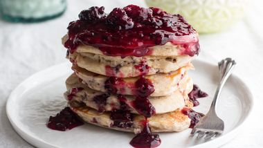 Blackberry Buttermilk Pancakes