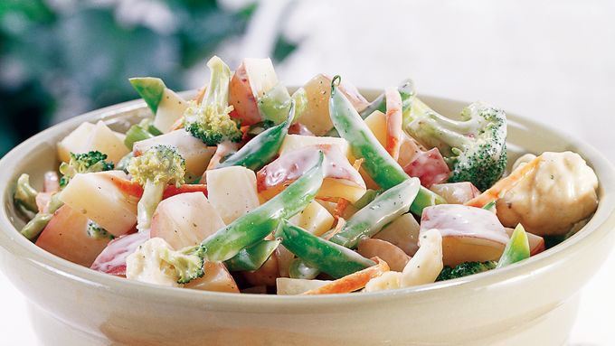 Skinny Broccoli-Ranch Potato Salad