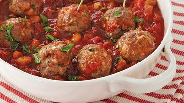 Slow-Cooker Meatballs in Tomato Chutney