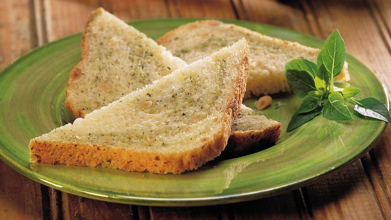 Bread Machine Pesto-Pine Nut Bread