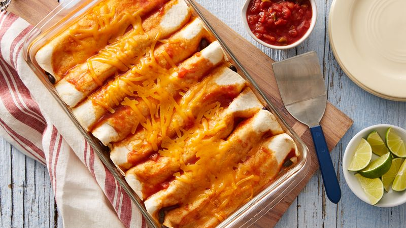Black Bean and Cheese Enchiladas