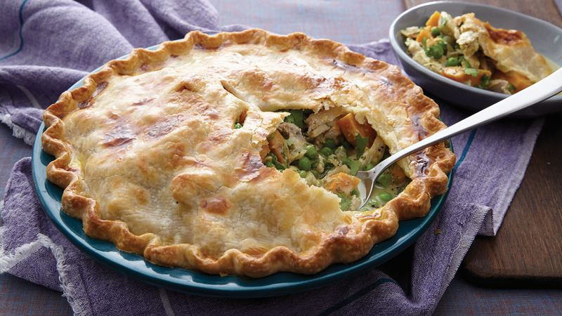 Curried Chicken Pot Pie recipe from Betty Crocker