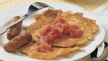Potato Pancakes with Chunky Gingered Applesauce