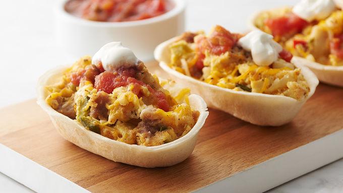 Slow-Cooker Mini Breakfast Burrito Bowls