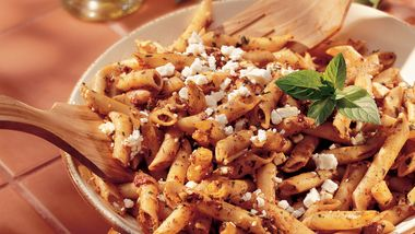 Mostaccioli with Sun-Dried Tomato Pesto