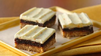 Cinnamon Fig Bars with Orange Buttercream Frosting