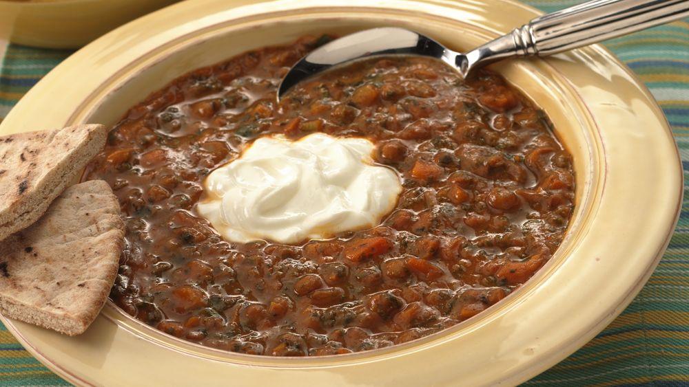 Spicy Curried Lentil Stew