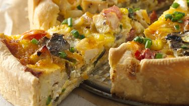 Poblano Chicken and Vegetable Quiche