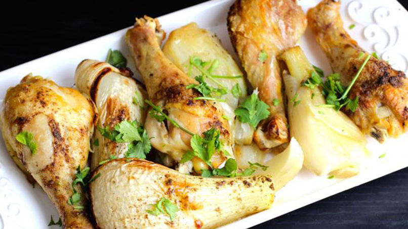 Baked Chicken with Fennel