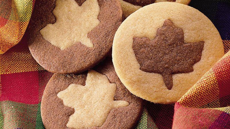 Two-Tone Leaf Cookies