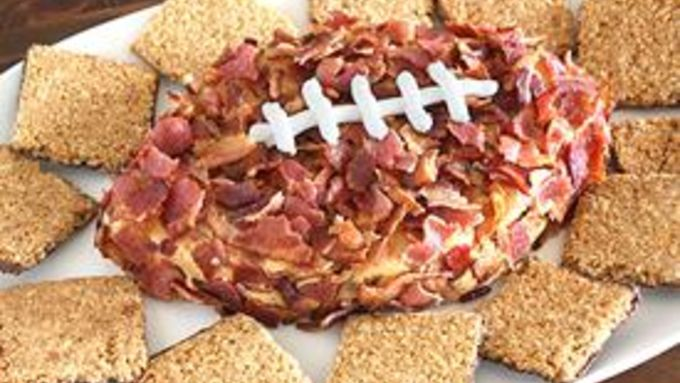 Peanut Butter-Bacon Football Dip