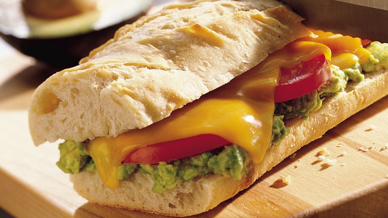 Rustic Vegetable Baguette with Smashed Avocado