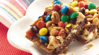 Double-Chocolate Candy Cashew Bars