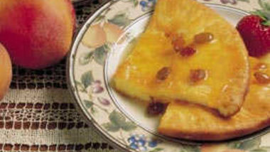 Baked Peach Pancakes