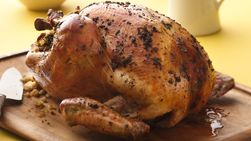 Herbed Turkey with Beef and Cornbread Stuffing