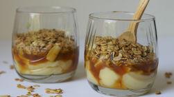 Copas de Pudín, Manzana y Caramelo