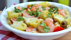 Pasta Salad with Artichokes and Shrimp