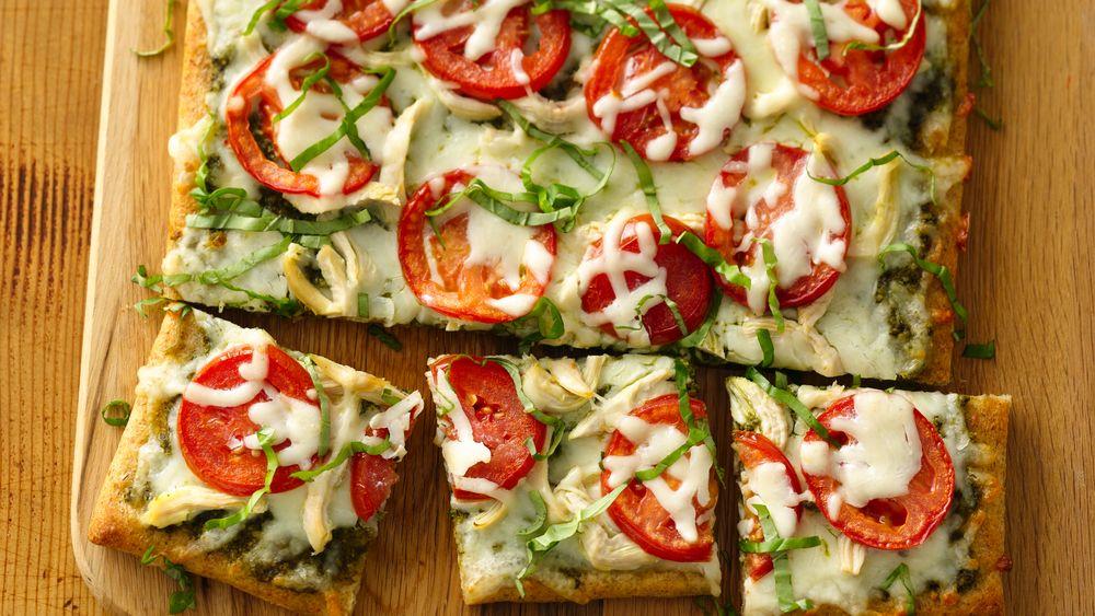 Chicken Pesto Pizza recipe from Pillsbury.com