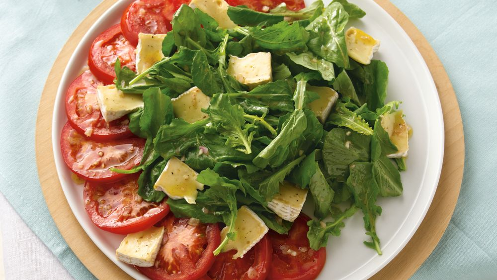 Brie, Lettuce and Tomato Salad