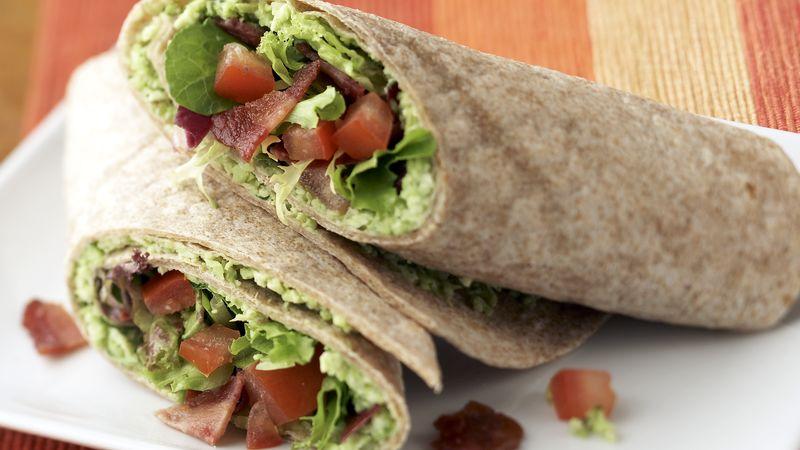 Skinny Bacon and Edamame Wraps