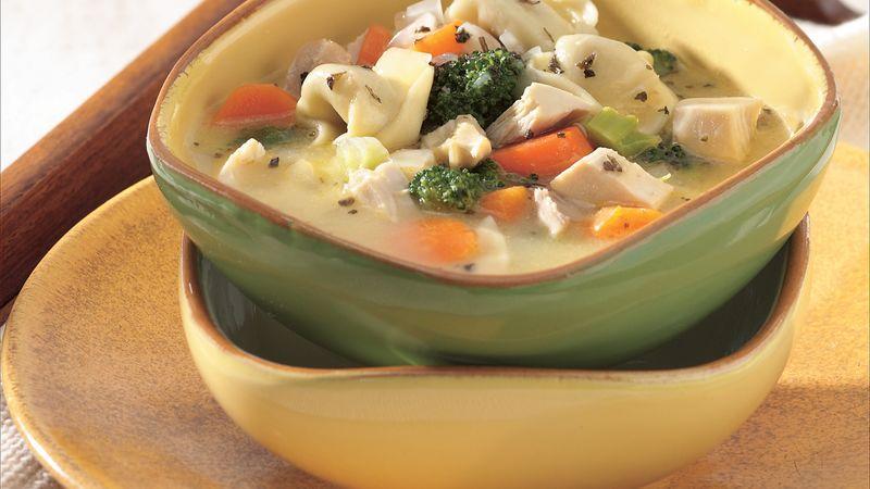 Chicken-Tortellini Soup