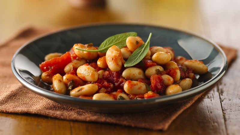 Cannellini with Tomatoes and Sage