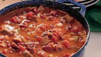 Sirloin Three-Bean Chili
