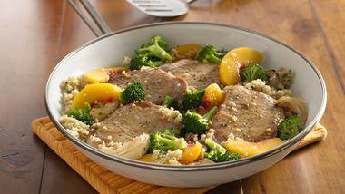 Balsamic Pork Chops with Quinoa