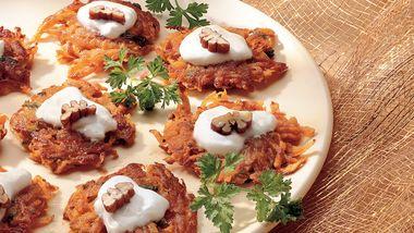 Sweet Potato Mini-Latkes