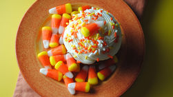 Mini Cupcakes de Candy Corn