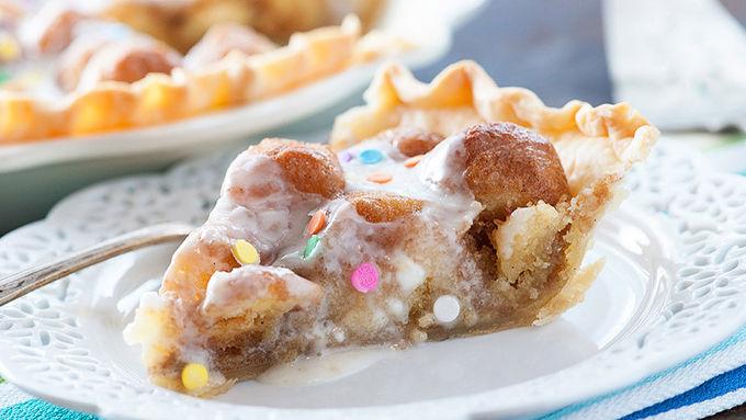 Rainbow Sprinkles Donut Pie