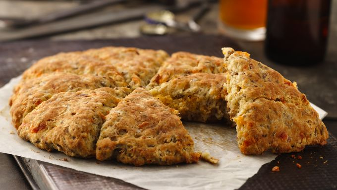 Cheese and Bacon Spent Grain Scones