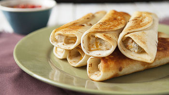 Chicken, Peppers and Cream Cheese Taquitos