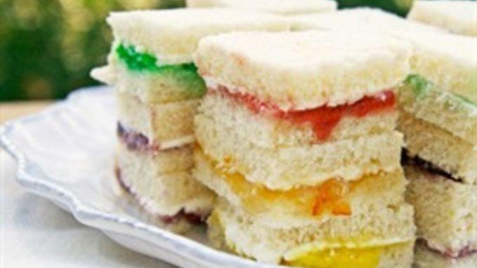 Rainbow Cream Cheese Sandwich Bites