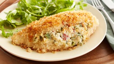 Bacon, Chile and Cream Cheese-Stuffed Chicken Breasts
