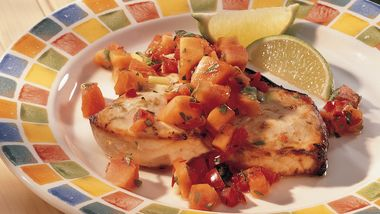 Grilled Swordfish with Papaya Salsa