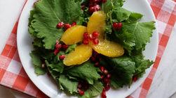 Kale, Pomegranate and Orange Supreme Salad