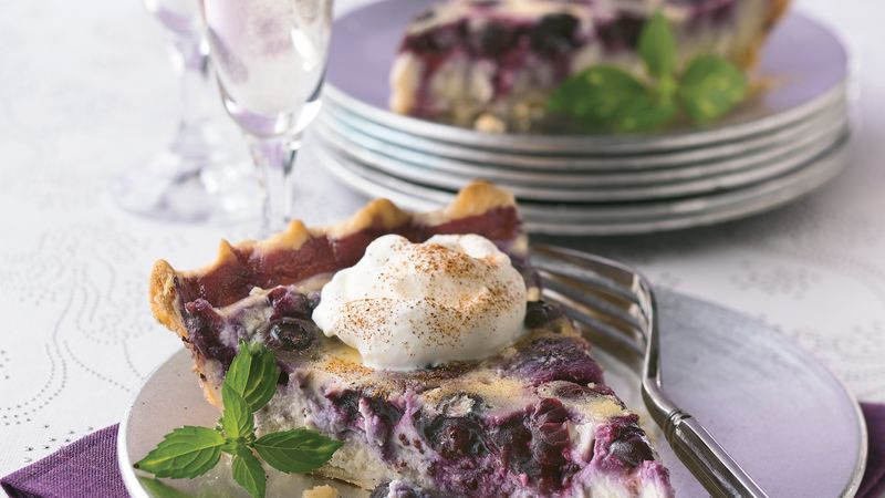 Blueberry Pudding Pie