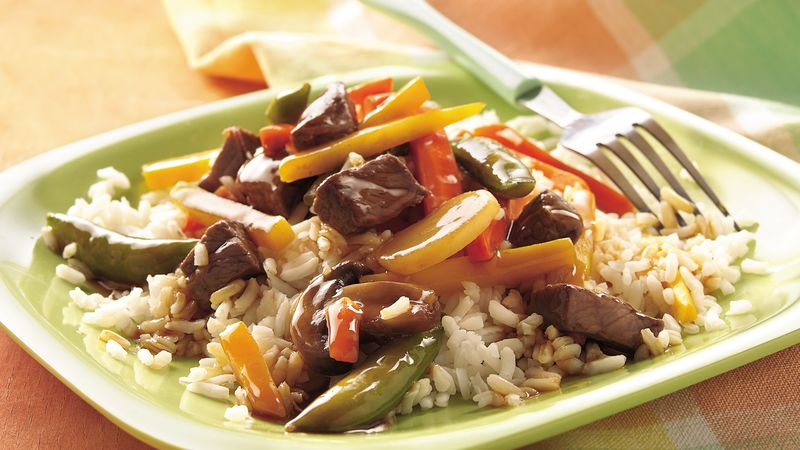Quick Beef Tips and Vegetables
