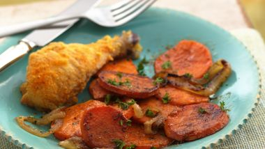 Caramelized Onion and Sweet Potato Skillet
