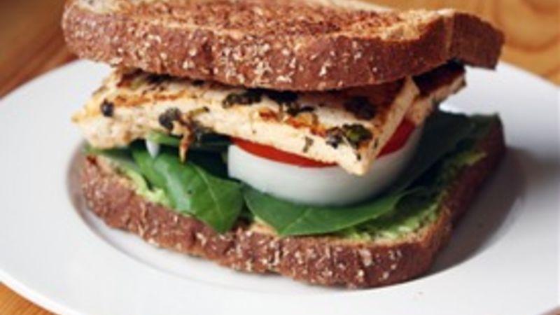 Cilantro-Lime Tofu Sandwiches