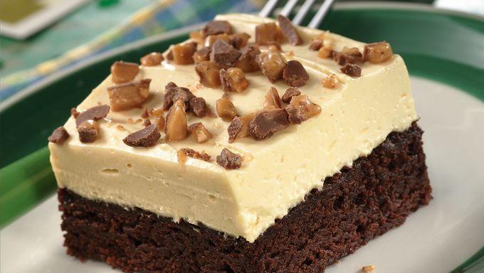 Irish Cream-Topped Brownie Dessert