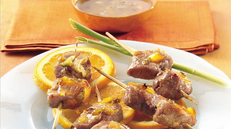 Ginger-Orange Pork Skewers